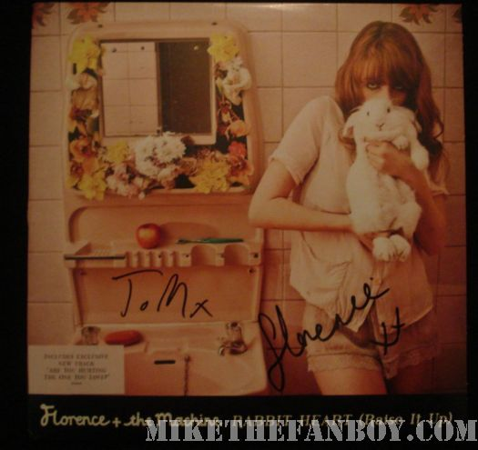 Florence and the machine signed autograph rabbit heart raise it up