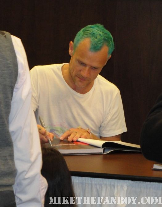 oral history flea chad smith book signing autograph