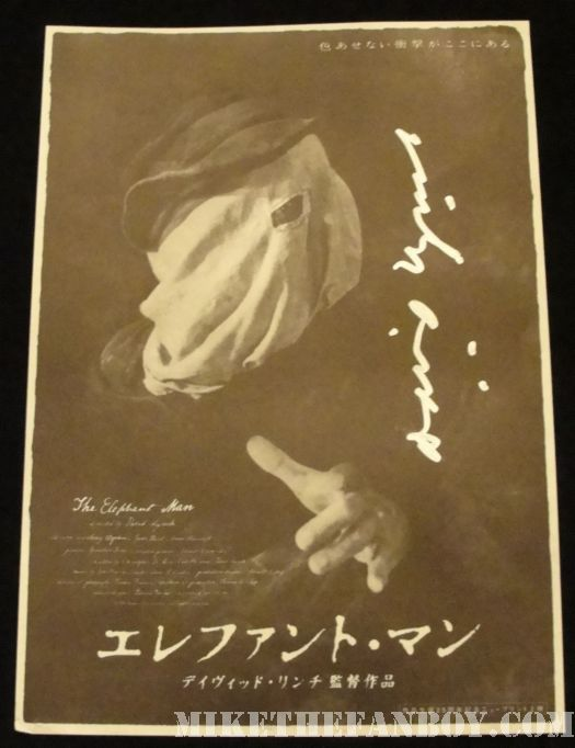 David Lynch signed autograph elephant man egyptian