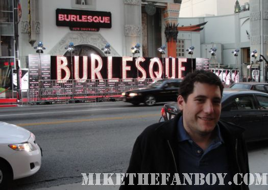 burlesque sign mike michael sametz premiere hollywood ca poster rare