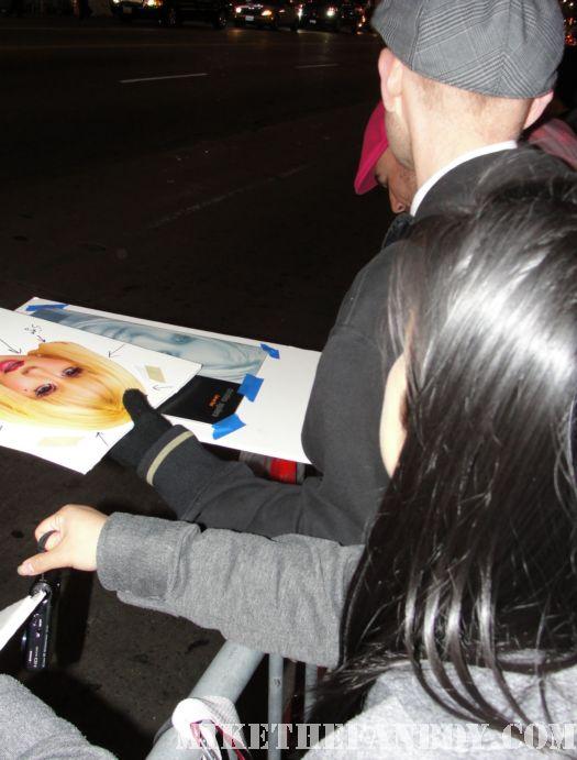 Scotty christina aguilera premiere burlesque rare poster signed autograph