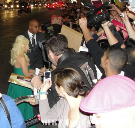 Burlesque Christina Aguilera Cher Premiere Gay homosexual autograph signing