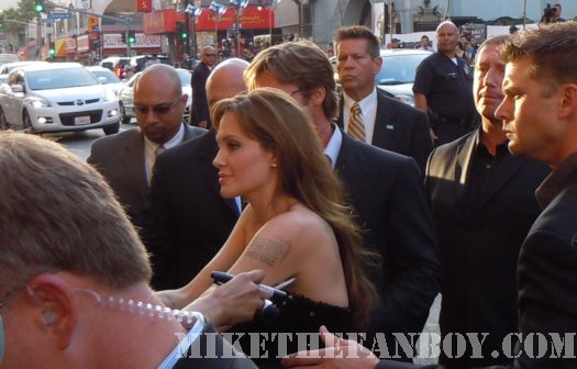 Angelina Jolie Brad pitt at the Salt premiere