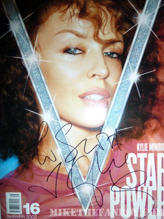 Kylie Minogue Signed Autograph V Magazine Scott Davis Rare Sexy