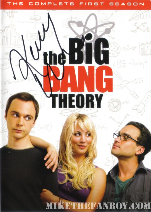 Big Bang Theory cast signed dvd cover Kaley Cuoco