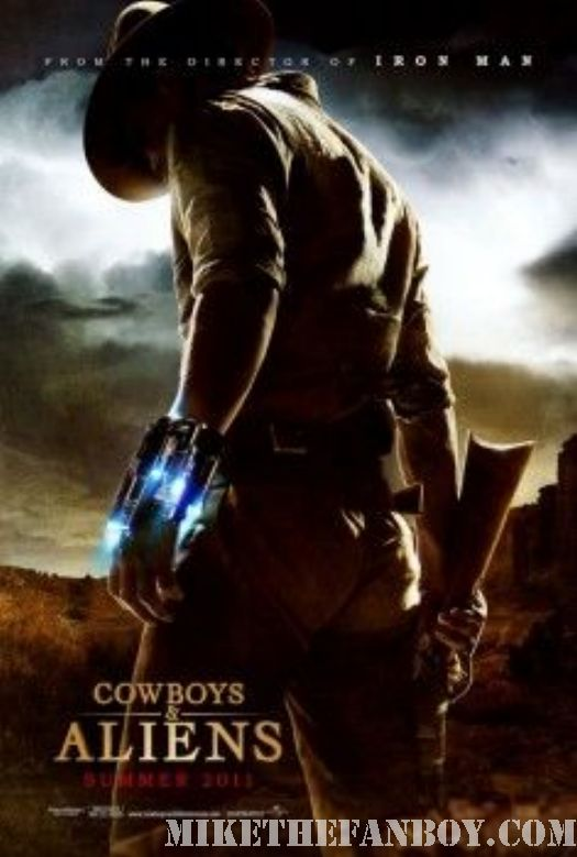 Cowboys and Aliens movie poster Harrison Ford Daniel Craig Teaser