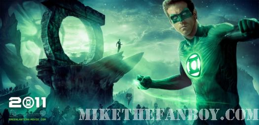Green Lantern Ryan Reynolds sexy hot muscle shirtless blake lively movie poster signed autograph