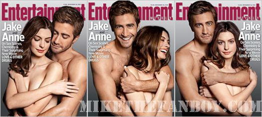 Jake Gyllenhaal shirtless naked Anne Hathaway Sexy Entertainment Weekly Cover