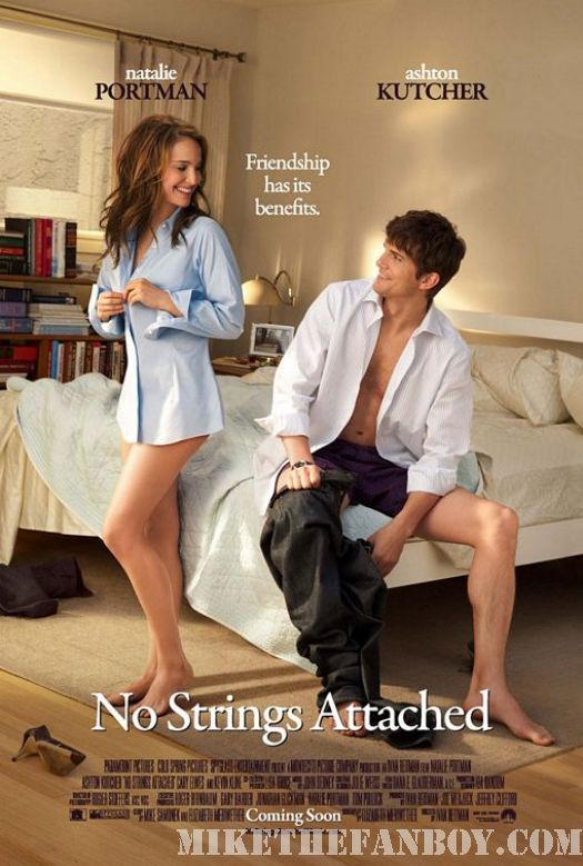 Ashton Kutcher shirtless naked hot sweaty natalie Portman No Strings Attached movie poster fucking hot