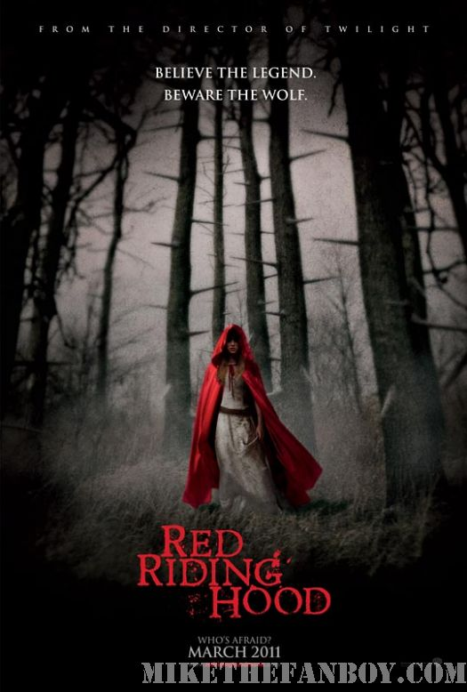 Gary Oldman Amanda Seyfried Red Riding hood movie poster mini uk rare sexy
