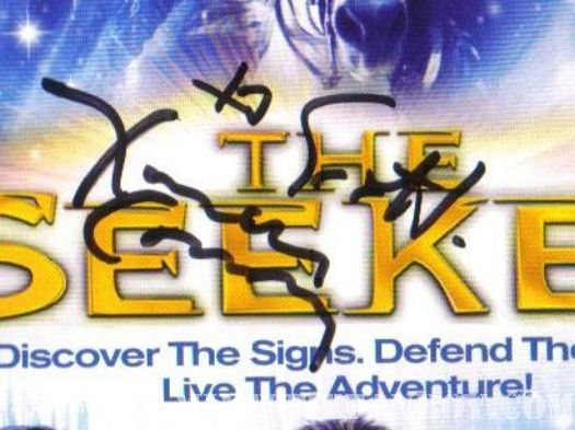 seeker dark is rising signed dvd cover rare hand autograph