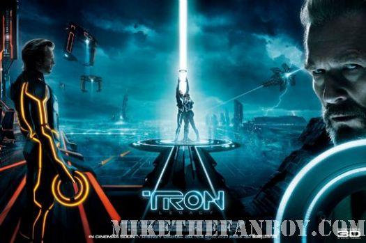 Tron LEgacy full movie Poster jeff bridges Rare