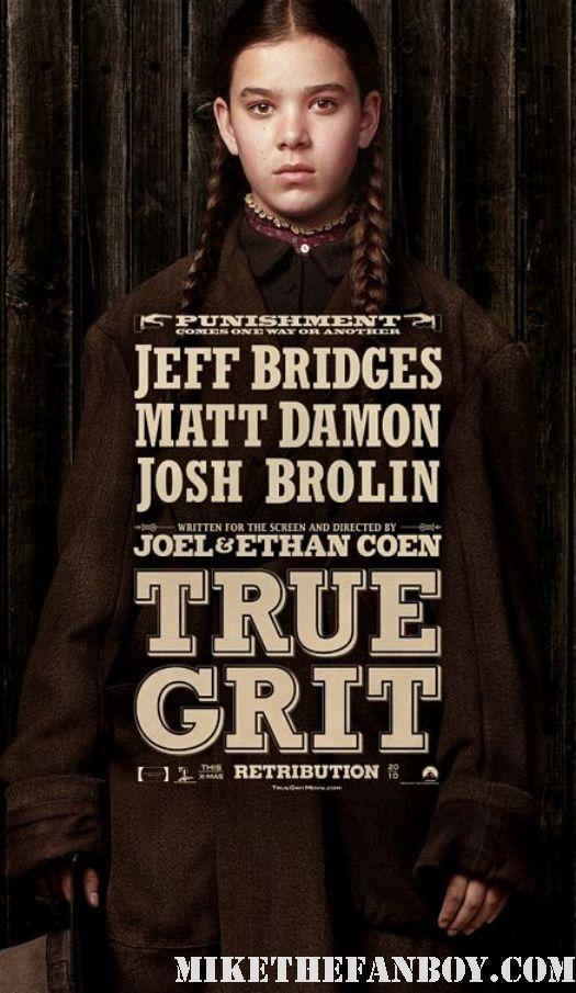 Hailee Steinfeld True Grit Movie Poster Individual 2011 coen bros coen brothers mini poster