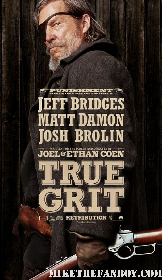 True Grit 2011 Individual movie poster mini Jeff Bridges Coen Brothers