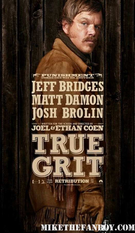 True Grit Matt Damon Coen Brothers Individual Movie Poster  Coen Bros