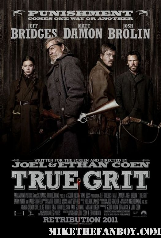 True Grit Jeff Bridges Matt Damon Josh Brolin movie poster individual new hot Coen Brothers