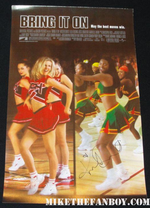 kirsten dunst signed autograph bring it on signed movie poster rare
