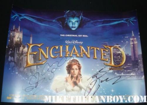 amy adams susan sarandon signed enchanted mini poster uk quad rare