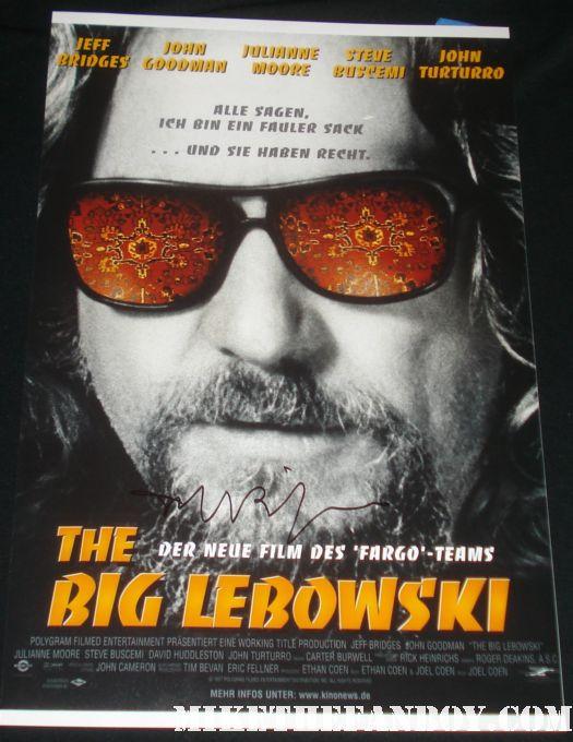 Big Lebowski signed autograph mini poster jeff bridges rare