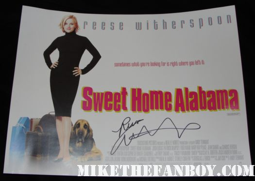 Reese Witherspoon how do you know poster water for elephants sweet home alabama signed autograph poster