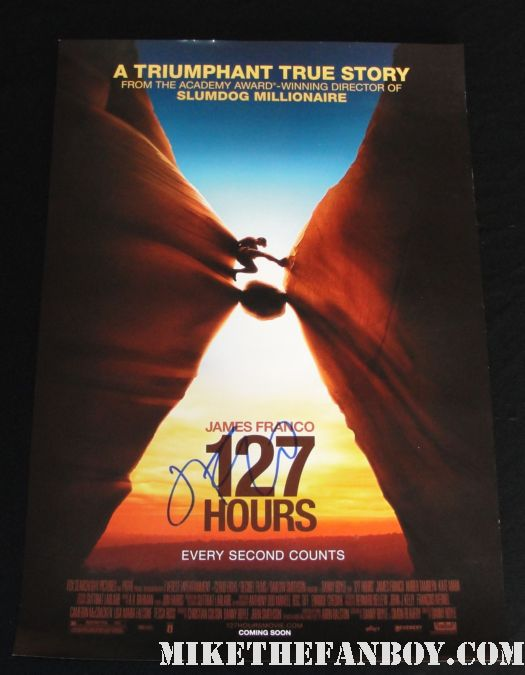 james franco signed autograph 127 days mini poster rare sexy shirtless