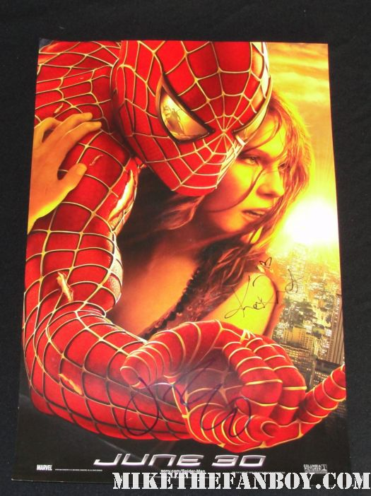 James franco signed spiderman mini poster oscars academy awards rare signed