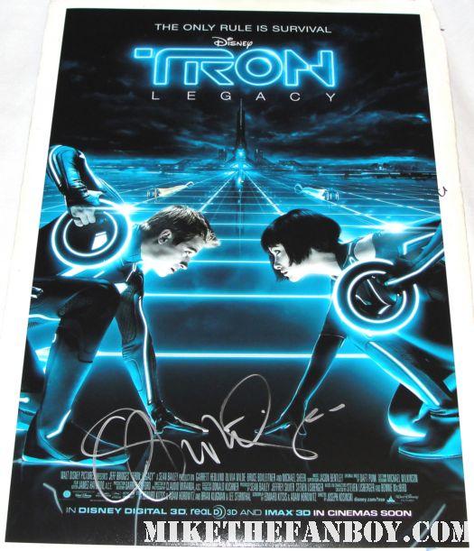olivia wilde signed tron legacy mini poster promo autograph rare