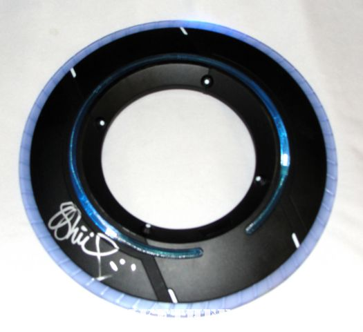 olivia wilde hand signed tron legacy identity disc rare light deluxe