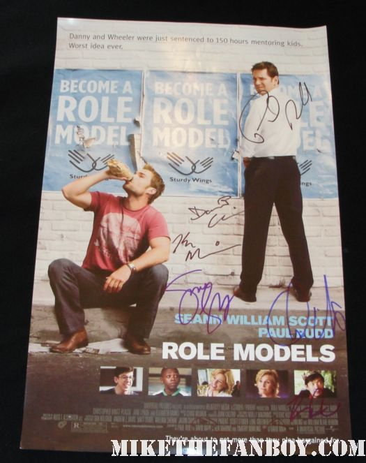 paul rudd role models signed promo mini poster rare sean william scott