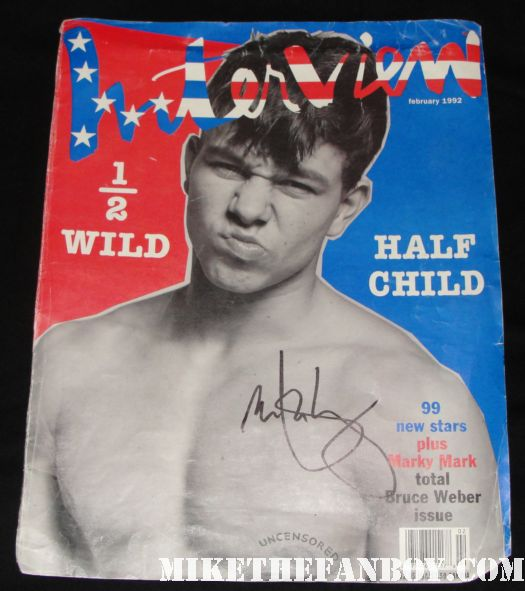 marky mark wahlberg fighter calvin klein sexy shirtless rare poster signed hot naked