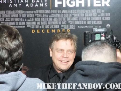 "Mark ""Luke Skywalker"" Hamill fighter star wars rare red carpet saber return jedi"
