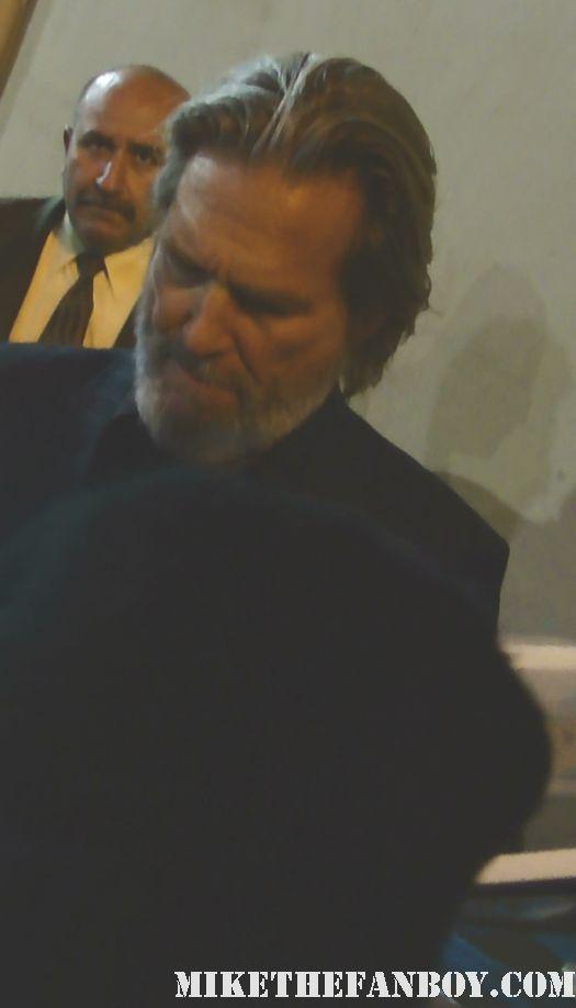 Jeff Bridges True Grit Tron Legacy autograph signed rare poster jimmy kimmel