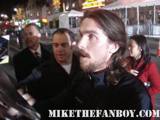 Christian Bale sexy shirtless naked fighter premiere hollywood dark knight