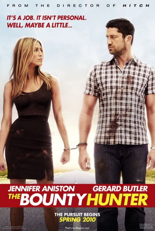 Jennifer aniston gerard butler Bounty hunter one sheet movie poster shirtless naked 300 sexy hot