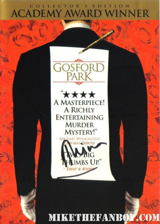 Helem Mirren signed autograph gosford park dvd rare sexy topless naked