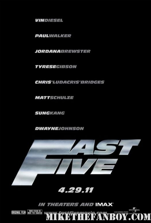 Paul walker shirtless fast five fast and furious 5 teaser rmovie poster vin diesel