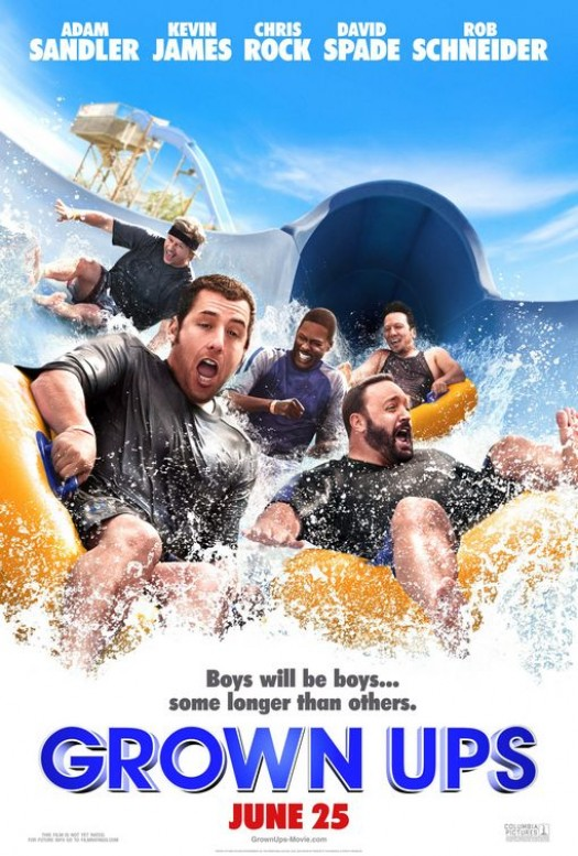 Adam Sandler Grown Ups rare mini promo movie poster Kevin james one sheet sexy