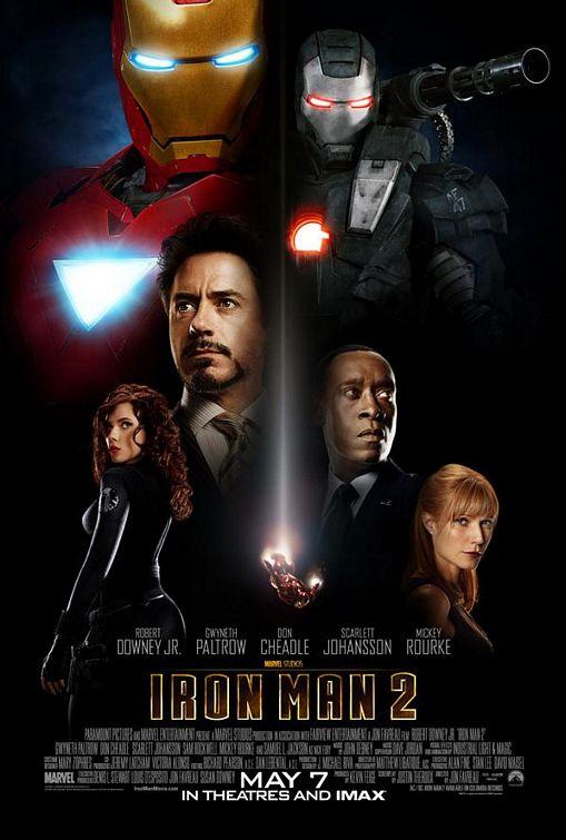 iron man 2 two mini movie poster Robert Downey Jr. Rare mini movie poster
