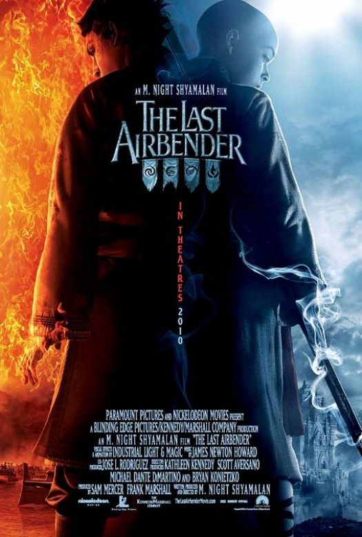 The LAst Airbender avatar M. Night Shyamalan one sheet movie poster rare