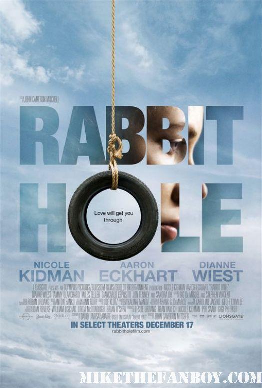 rabbit hole movie poster nicole kidman aaron eckhart dianne wiest edward scossorhands promo