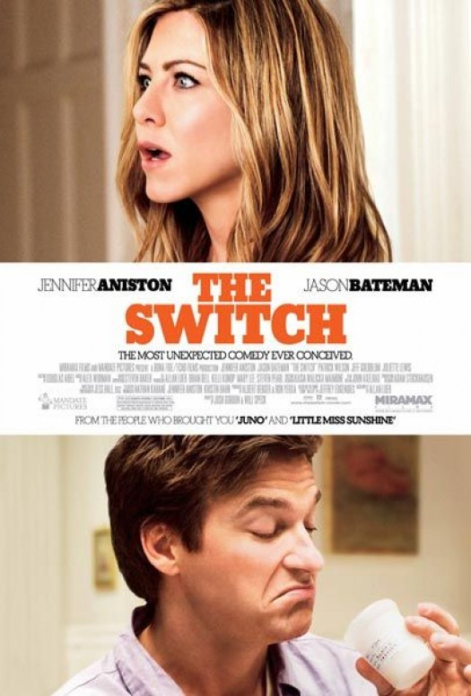 jennifer aniston the switch movie poster one sheet jason bateman sexy naked rare photo