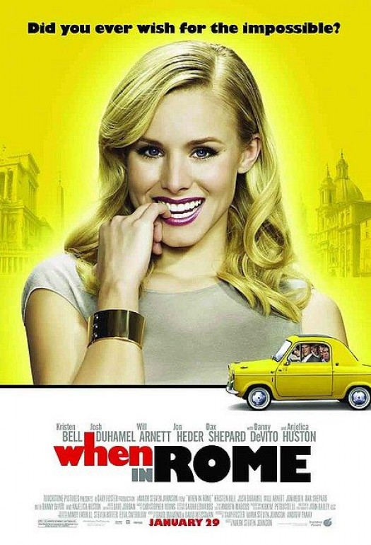 When in rome one sheet movie poster kristen bell veronica mars rare Dax Shepard douche sexy hot