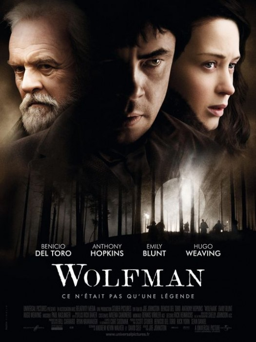 The Wolfman Emily Blunt anthony hopkins one sheet movie poster rare mini