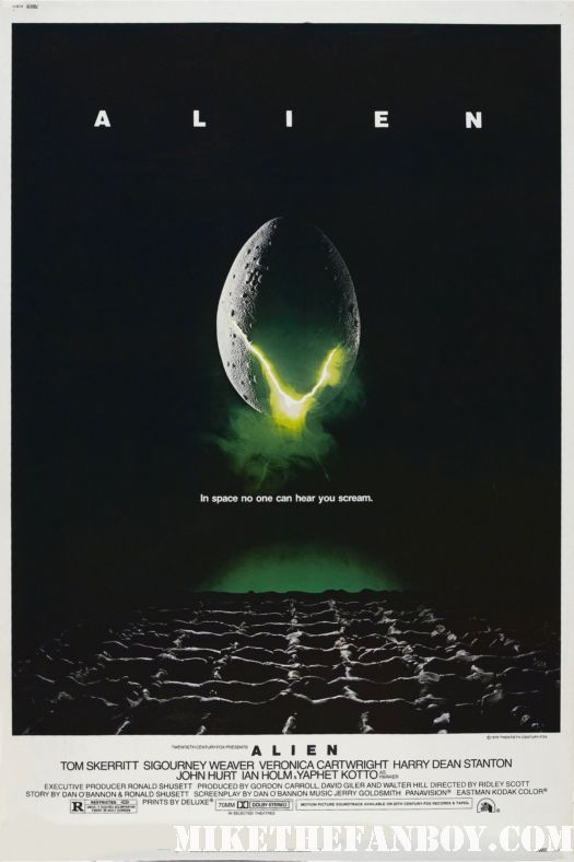 Prometheus alien pregual sigourney weaver rare one sheet movie poster ridley scott