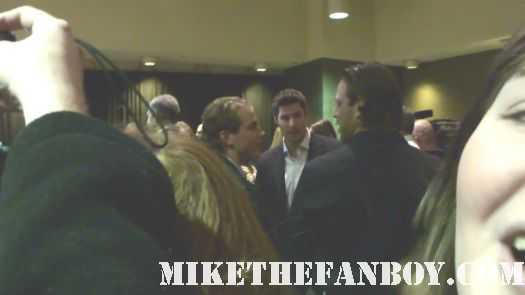 Chicago Blackhawks hockey players Patrick-Kane-Troy-Brower-Dave-Bolland at the dilemma movie premiere
