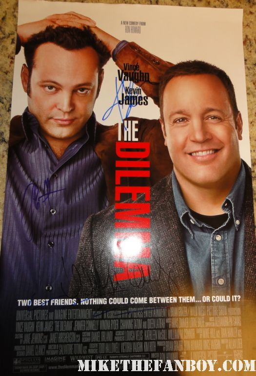 the dilemma cast signed promo poster kevin james channing tatum rare