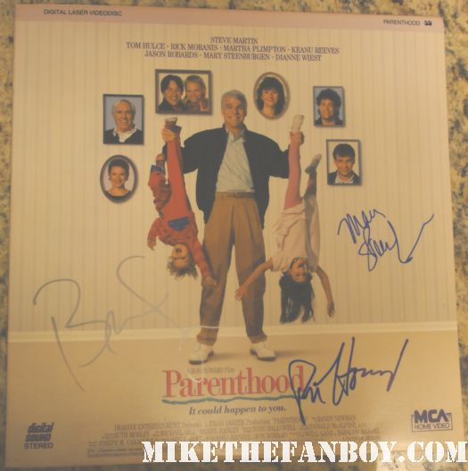 parenthood cast signed laserdisc ron howard brian grazer mary steenburgen steve martin