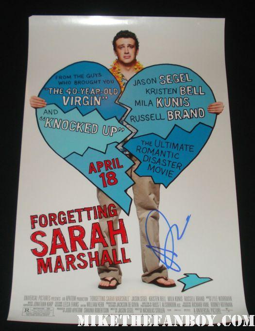 forgetting sarah marshall rare promo poster mila kunis signed jason segel kristen bell