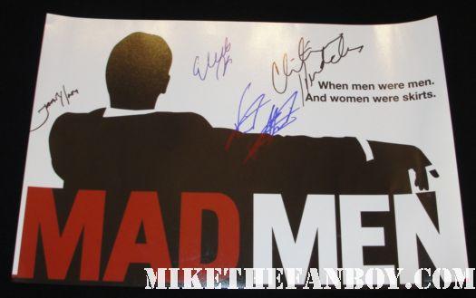Mad Men Cast signed autograph promo poster Christina Hendricks Jared Harris