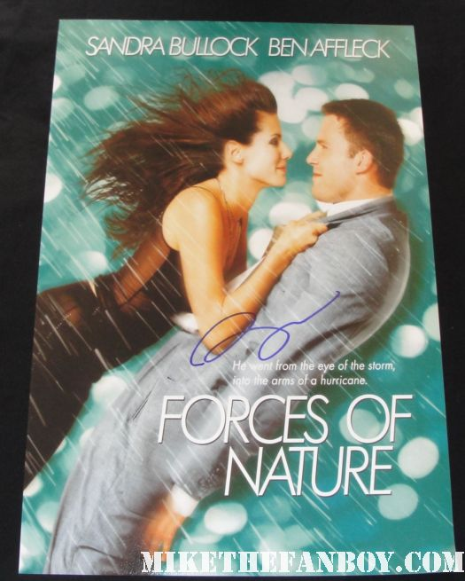 ben affleck forces of nature promo mini poster hand signed autograph rare shirtless sexy